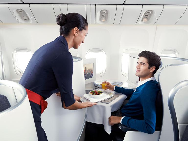 エールフランス:ビジネスクラス お食事サービス