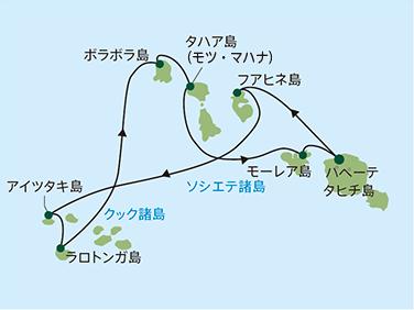 ポール・ゴーギャン・クルーズ クック諸島とソシエテ諸島 11泊12日