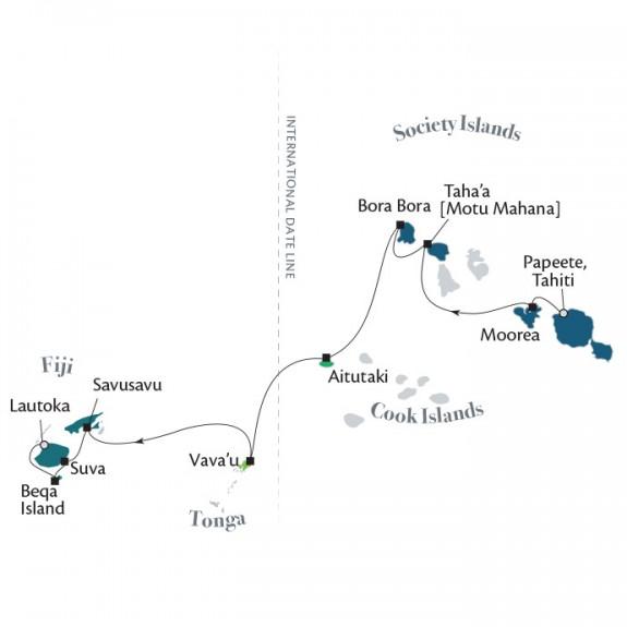 ポール・ゴーギャン・クルーズ フィジー、トンガ、クック諸島とソシエテ諸島 12泊13日