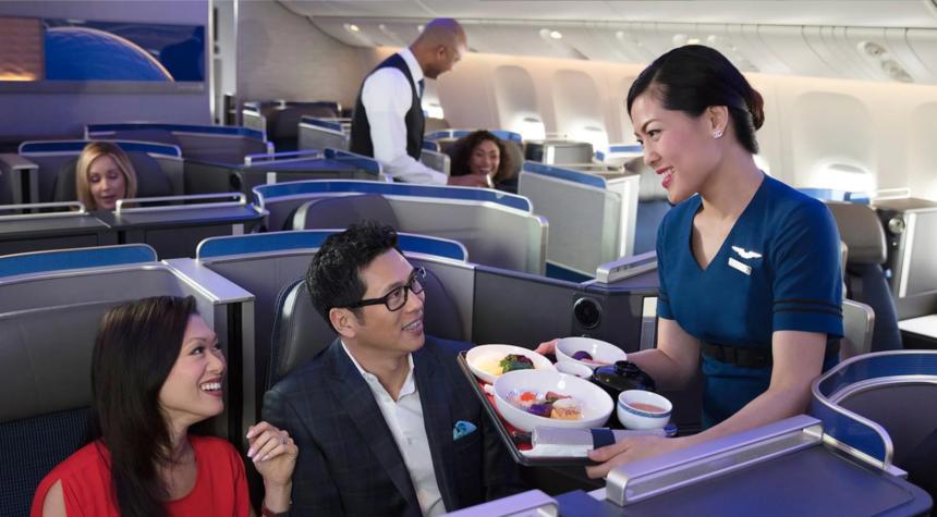 ユナイテッド航空 ビジネス&ファーストクラス 機内食