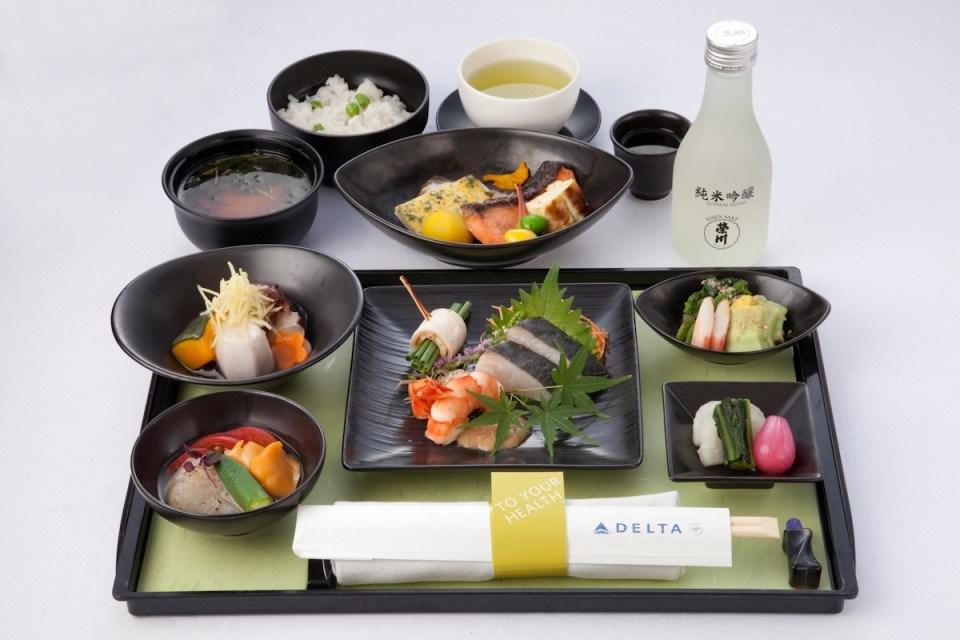 デルタ航空 ファースト&ビジネスクラス 機内食