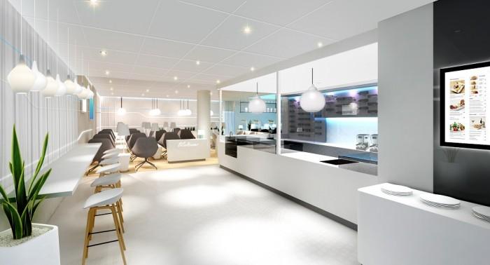シェンゲン協定非加盟国線エリア内36番ゲート周辺にオープン。フィンランドの企業である「dSign Vertti Kivi & Co社」が設計