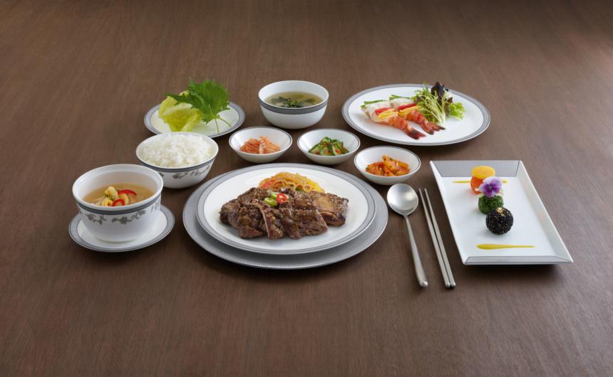 シンガポール航空ビジネスクラス・ファーストクラス・スイートクラスの韓国料理