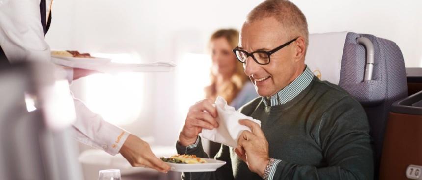 ルフトハンザドイツ航空ビジネスクラスお食事