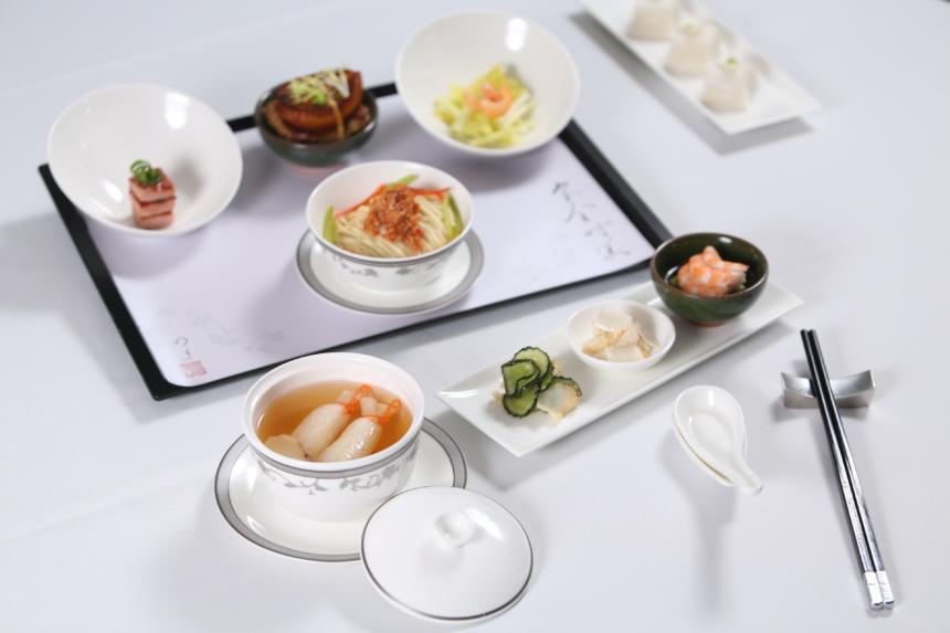 シンガポール航空ビジネスクラス・ファーストクラス・スイートクラスの中華料理