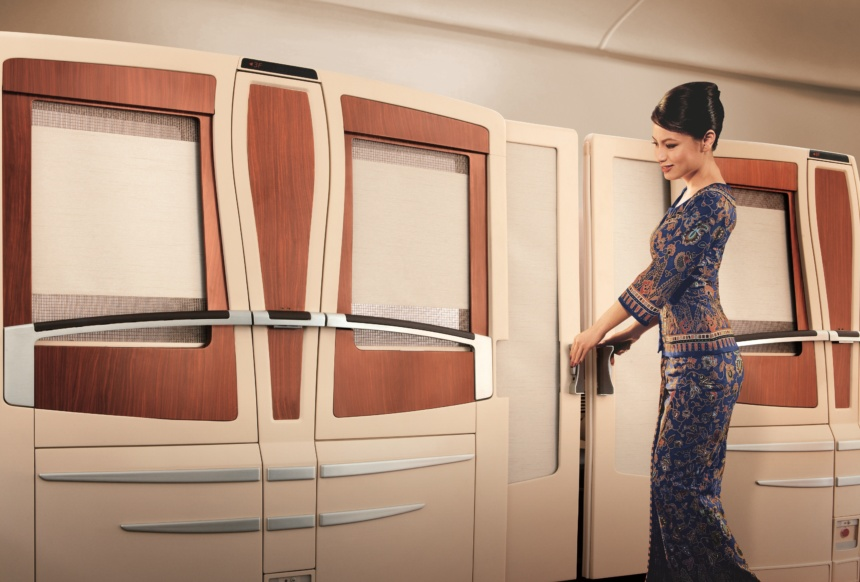 シンガポール航空新しいA380のスイートは完全個室