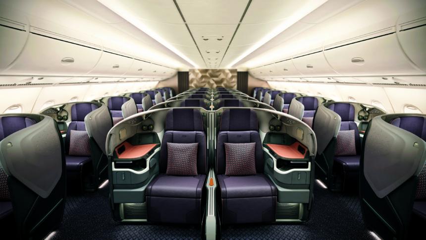 シンガポール航空のA380の新しいシート