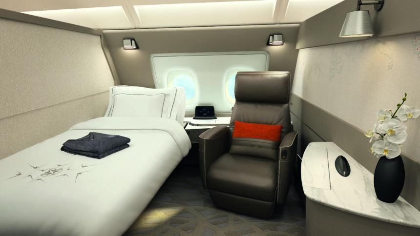 シンガポール航空新しいA380のスイート