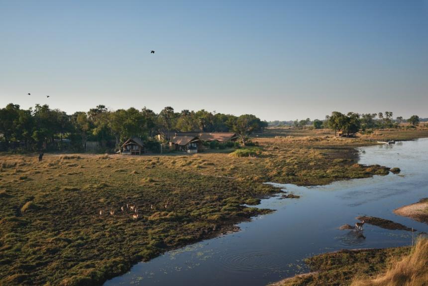 拡がるデルタ地帯:Belmond Safaris, Eagle Island Lodge, Okavango, Botswana.