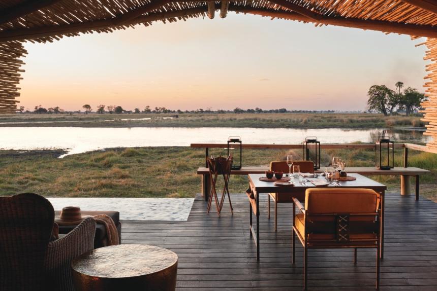 リバービュー:Belmond Safaris, Eagle Island Lodge, Okavango, Botswana.