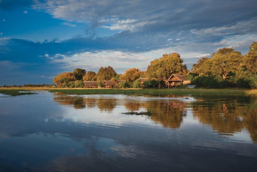 ベルモンド クワイリバー・ロッジBelmond Safaris, Khwai River Lodge, Okavango, Botswana.