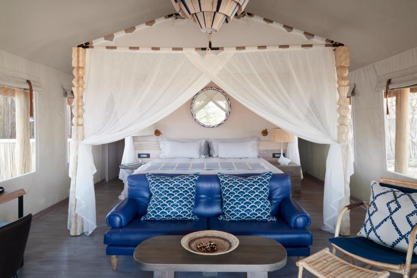ラグジュアリーな部屋:Belmond Safaris, Savute Elephant Lodge, Botswana.