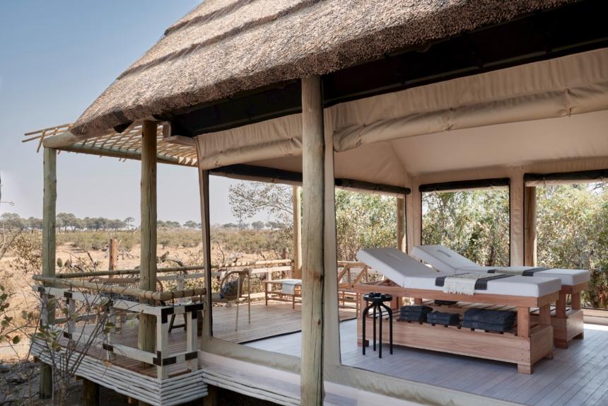 大自然の中でのスパ:Belmond Safaris, Savute Elephant Lodge, Botswana.