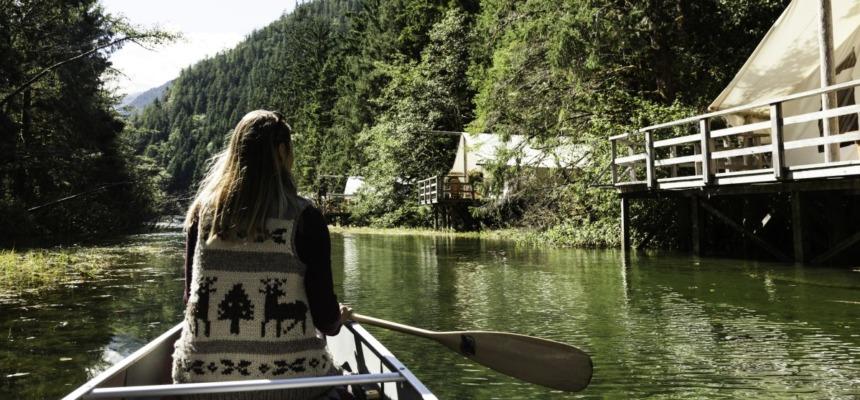 Clayoquot Wilderness Resort-カヌー遊び