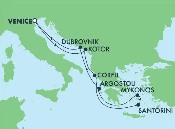 ノルウェージャン・ドーンギリシャ諸島クルーズ7泊8日 ベニス発着