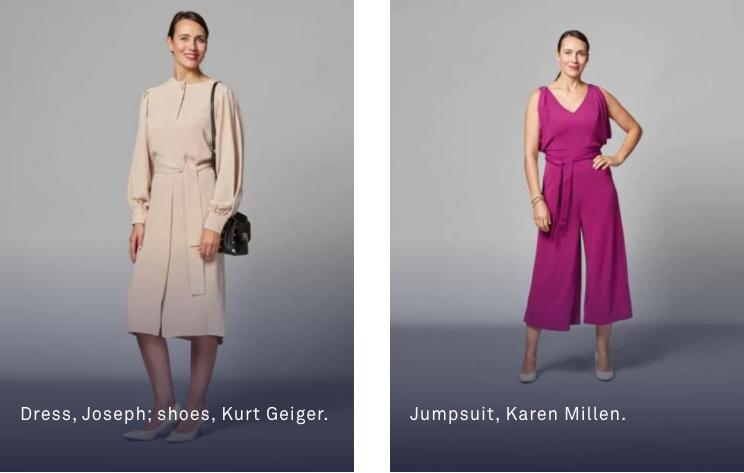 女性: ワンピースやスーツ。 もしくはカジュアルウェアにアクセサリー