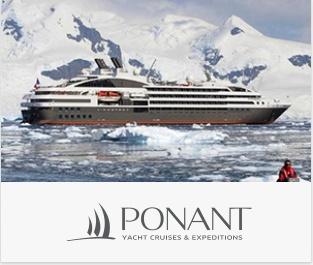 ポナンはラグジュアリーに冒険が愉しめ洗練されたインテリアもが心地よいフランスのクルーズ船